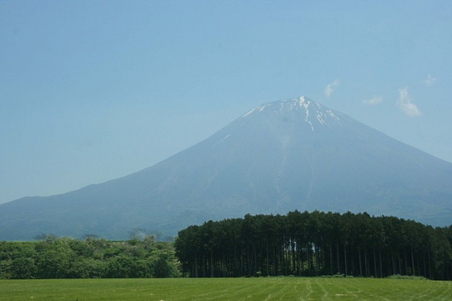 夏の富士山写真