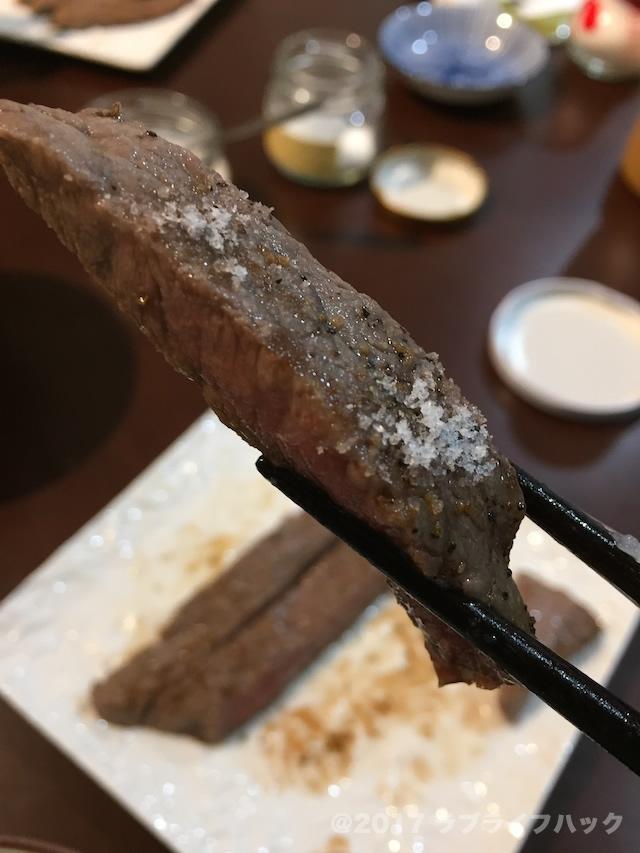 ステーキにディーンアンドデルーカのトリュフ塩