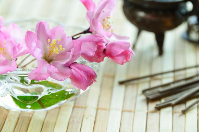 線香とお花