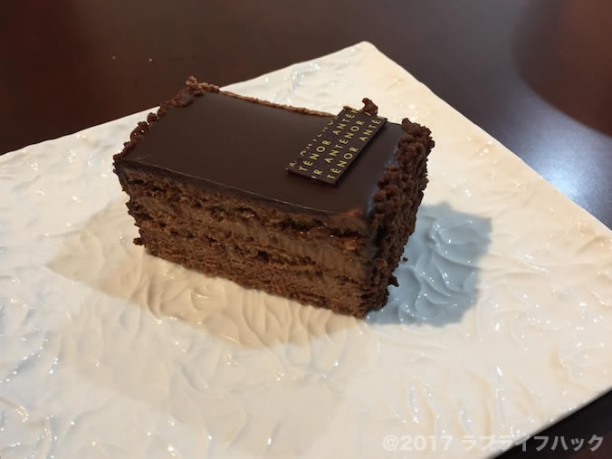 アンテノールのベルギーショコラケーキ