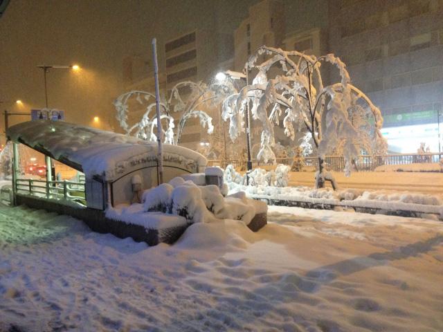 街の雪景色